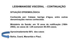LEISHMANIOSE VISCERAL - Universidade Castelo Branco