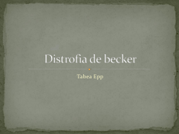 Distrofia de becker
