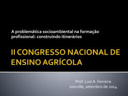 II CONGRESSO NACIONAL DO ENSINO AGRÍCOLA