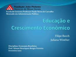 Educação e Crescimento Econômico