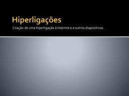 Hiperligações a página WEB