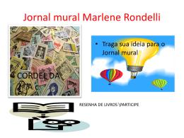 Jornal mural Marlene Rondelli
