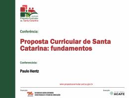 Princípio pedagógico - Proposta Curricular SC 2014