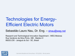 Technologies for Energy-Efficient Electric Motors