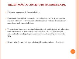 Economia social. Economia solidária. Terceiro sector