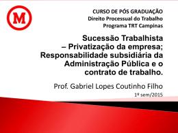 Sucessão Trabalhista - Gabriel Lopes Coutinho Filho