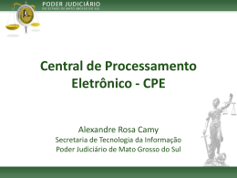 CPE - IV Encontro de Gestores do SAJ