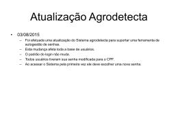 Atualização Agrodetecta