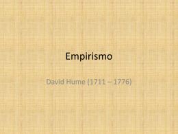 Empirismo - David Hume