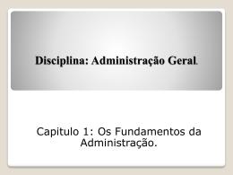 Administraçao geral