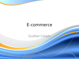 E-commerce - Prof. Gualber Calado