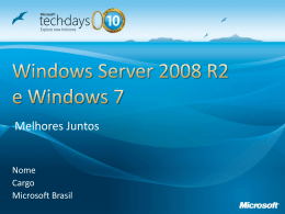 Windows Server 2008 R2 and Windows 7