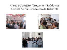 Crescer saude Grandola - Anexo