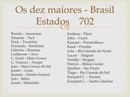 Os dez maiores - Brasil Estados 702