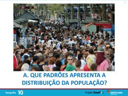 Padrões da distribuição da população em Portugal
