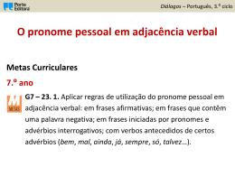 Adjacência verbal - Agrupamento Gil Vicente