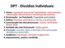 DPT - Dissídios Individuais: