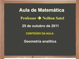 Neilton fundação 2011 – geometria analítica – equação da reta