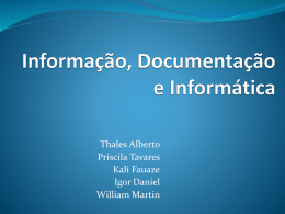 Aplicações datawarehousing, dataming e business