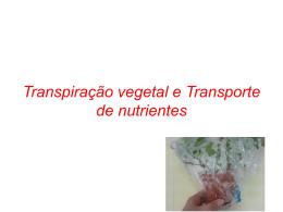 Transpiraçao e Transporte de nutrientes (1761402)