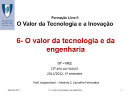 6-Valor da tecnologia e engenharia