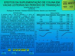 EFEITOS DA SUPLEMENTAÇÃO DE COLINA EM VACAS