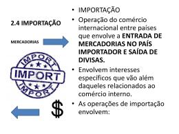 importação - Prof. Roberto Auricchio