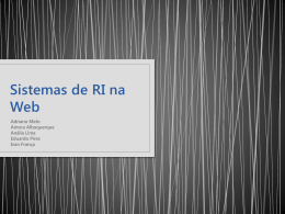 Sistemas de RI na Web