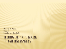 Teoria de Karl Marx Os Saltimbancos