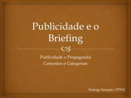 Publicidade e Briefing