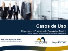 TSI_MPOO – Casos de Uso - Modelagem e Programação Orientada