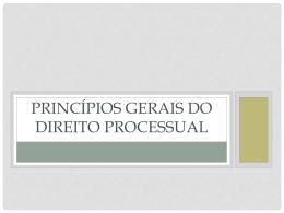 Princípios Gerais do Direito_I