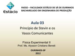 FEII Aula 03 Princípio de Stevin e os Vasos