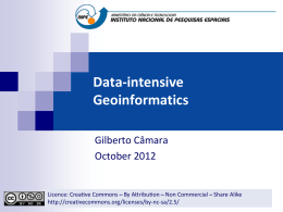 Data-intensive Geoinformatics - DPI