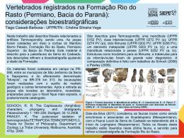 Vertebrados registrados na Formação Rio do Rasto