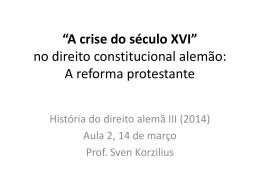 História de Direito alemã III 2014 aula 2 A crise do