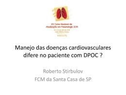 Manejo das doenças cardiovasculares difere no paciente com DPOC