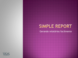 Simple report