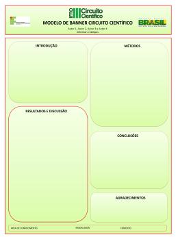 Modelo Banner III Circuito Científico – Pesquisador Iniciante