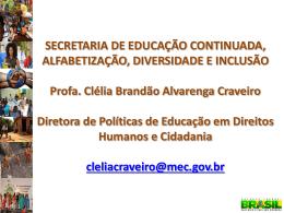 SECRETARIA DE EDUCAÇÃO CONTINUADA, ALFABETIZAÇÃO