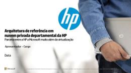 Arquitetura de referência em nuvem privada departamental da HP