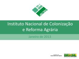 Reforma Agrária - Encontro Nacional com Novos Prefeitos