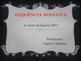Sequência didática Sabryna e Ângela