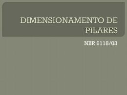 DIMENSIONAMENTO DE PILARES