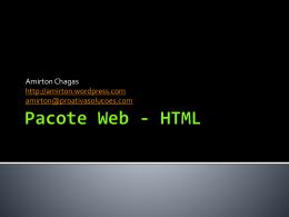 Pacote Web - HTML