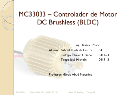 MC33033 - Controlador do Motor DC Brushless