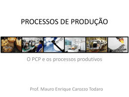 Tipos de processos (manufatura)