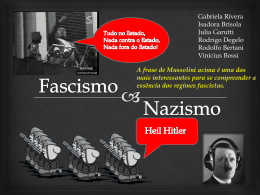 Nazismo e Fascismo 3ano - Blog do Professor Wallace