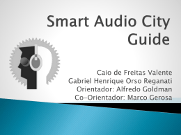 Smart Audio City Guide