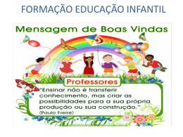FORMAÇÃO EDUCAÇÃO INFANTIL - Educação Infantil em Formação